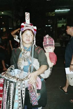 A woman selling crafts in Thailand