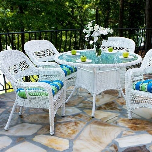 28++ White wicker dining table and chairs Inspiration