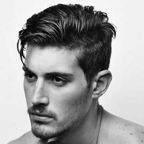 Greaser Hairstyles Messy Comb Over Greaser Hair Thick Hair Styles Haircuts For Men