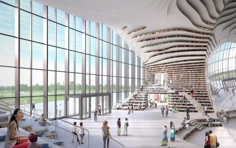 Library in China by MVRDV