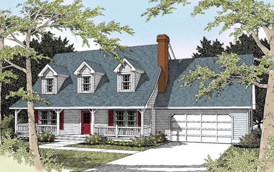 Cape cod country house plan 91631 room kitchen house for Cape cod house plans with basement