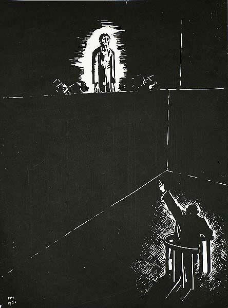 Ecce Homo - FRANS MASEREEL, woodcut, 1927