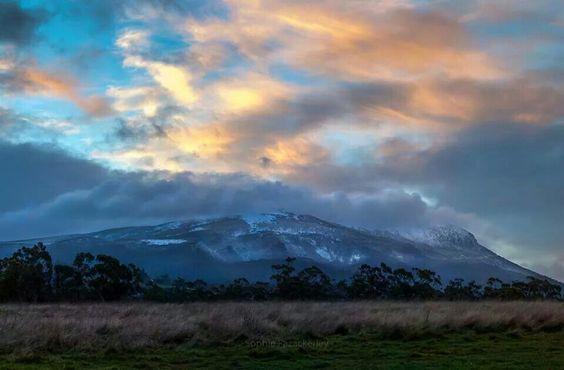 Snow-covered Mt Wellington, Tasmania