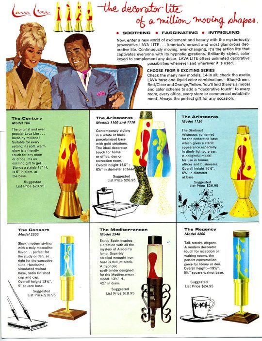 1960s Lava Lamp Brochure Lava Lamp Retro Renovation Retro