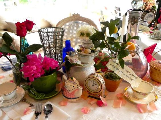 Alice in wonderland party is perfect for a unique prom for Unique tea party ideas