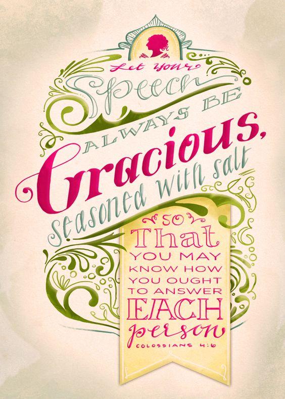 Seasoned with Salt: Colossians 4:6