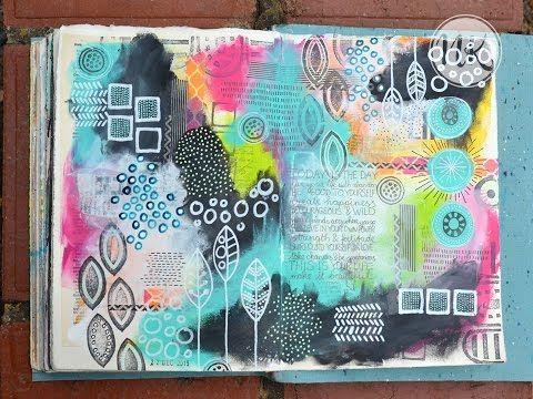Nat's art journal tutorial 22nd December 2015 - YouTube
