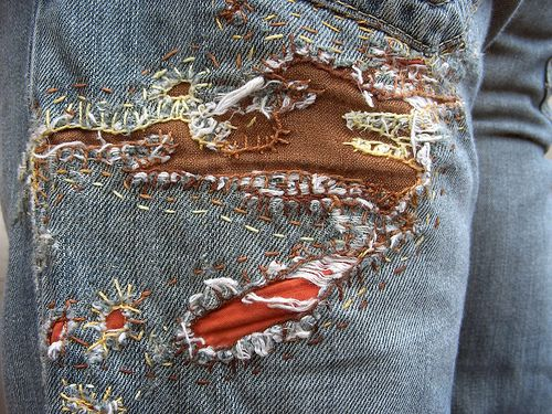 Mended Jeans: