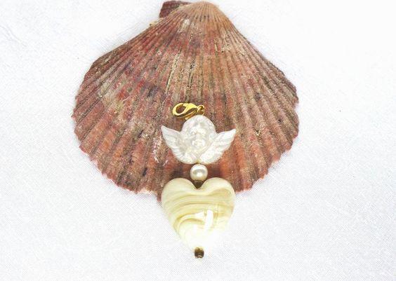 Schmuckanhänger - Charm Anhänger Engel - ein Designerstück von LonasART bei DaWanda