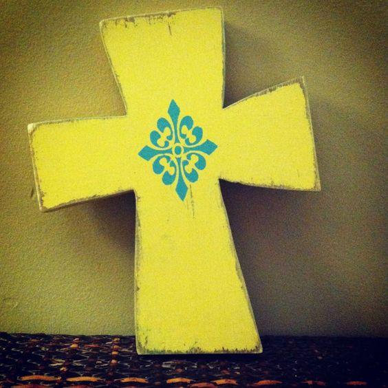 Small Wooden Cross. $35.00, via Etsy.