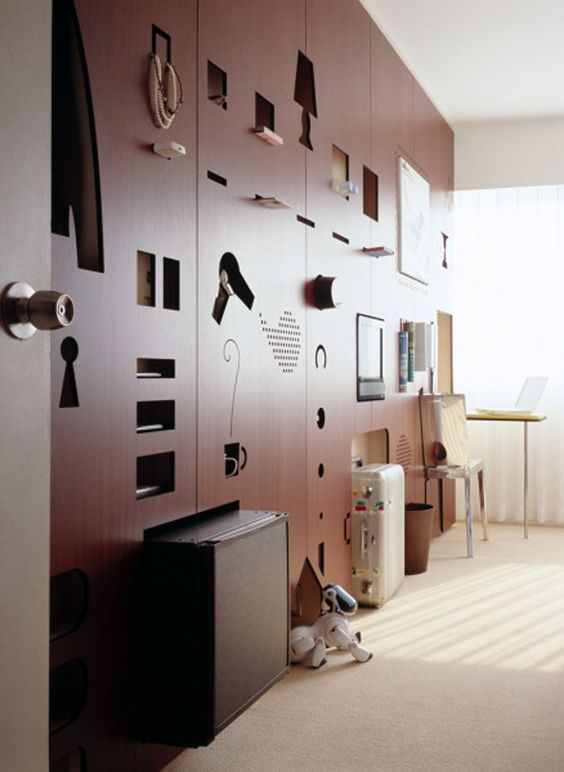 Unique Hotel Rooms: . Positive And Negative Spaces! Creative Hotel Room