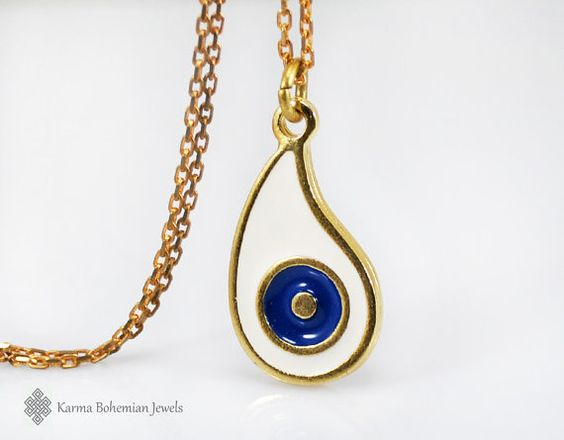 Hey, I found this really awesome Etsy listing at https://www.etsy.com/il-en/listing/243085380/white-gold-evil-eye-necklace-long-simple