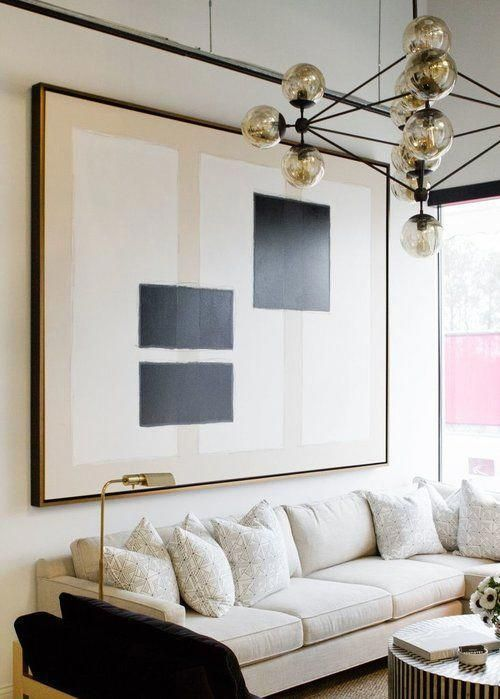 Paper And Pencil Co Lighting Modern Contemporary Black White Statement Bold Graphic Contemporaryliv Living Room Art Interior Wall Design Home Decor