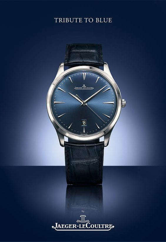 Jaeger-LeCoultre Master Ultra Thin Date steel - Bucherer Tribute to Blue - Perpetuelle