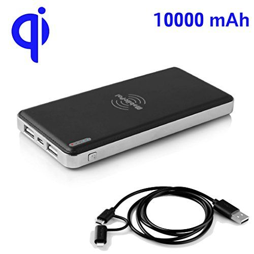 For wireless charging on the go - MobilePal™ Gen-2 Slim 10000mAh Qi Wireless Power Bank