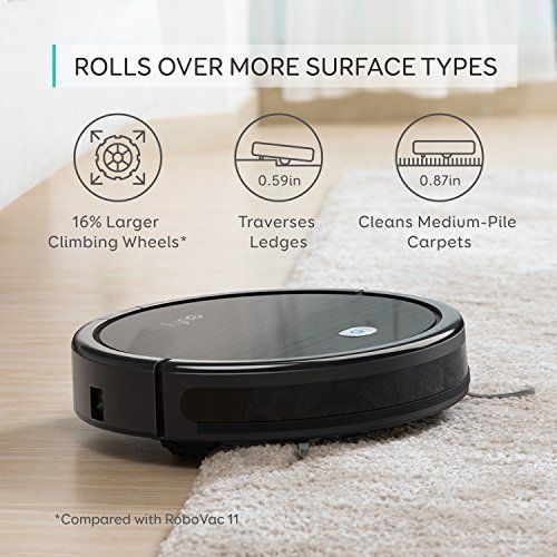 Robot Vacuum Cleaner Cleans Hard Floors To Medium-Pile Carpets Designed For Pet Fur
