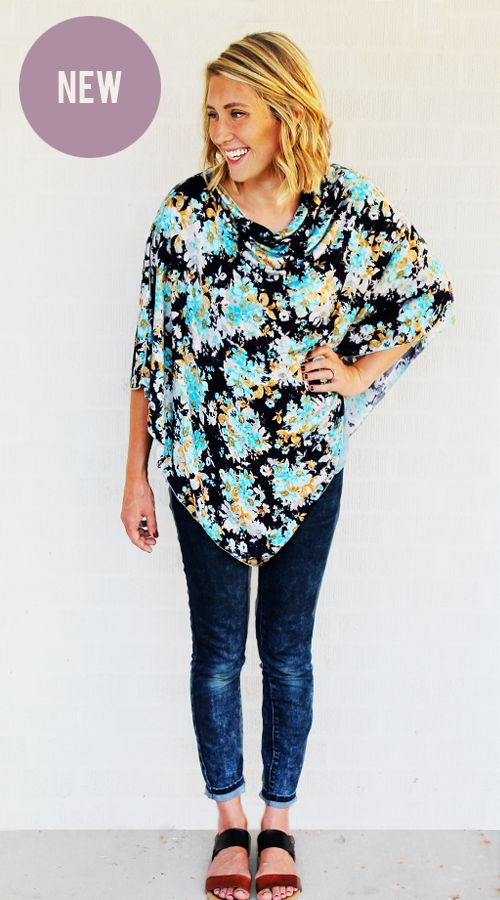 Navy Floral Nursing Poncho Front Picture NEW.png