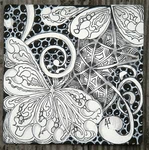 or zentangle inspired piece using the william morris technique of ...