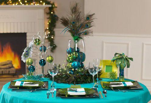 peacock party decor