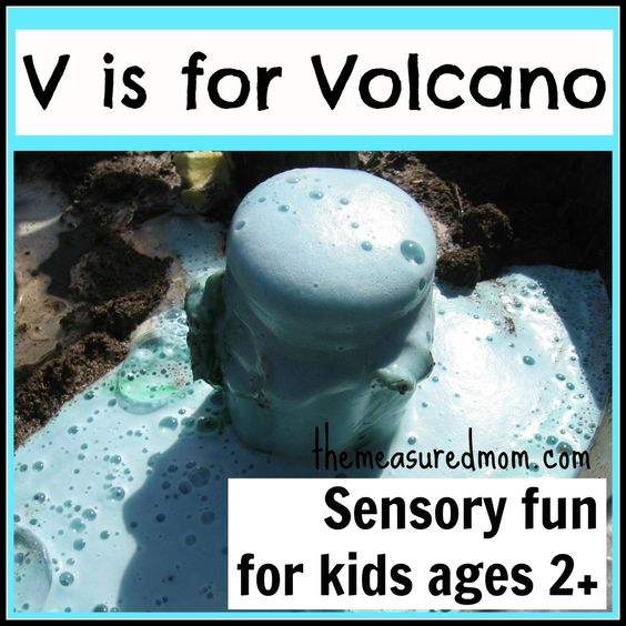 Make your own volcano:...V Is For Volcano