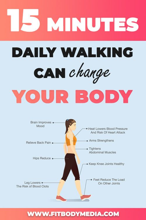 If you know you won't be able to do your regular workout due to an early morning meeting, taking a 15-minute walk on your lunch break or after dinner could get you the same benefits.