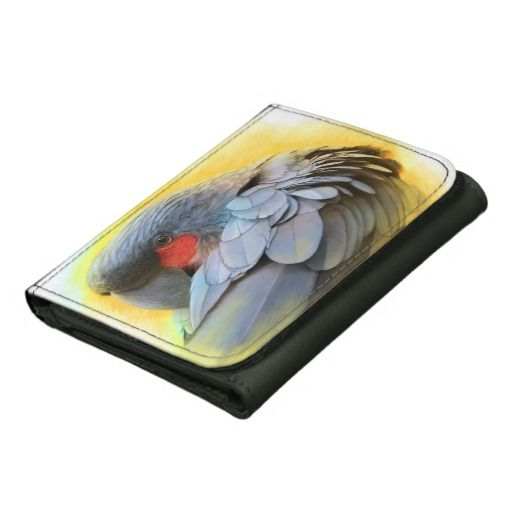 Black Palm Cockatoo realistic painting Wallet. Realistic painting of black palm cockatoo merchandises #birdthemedgifts #giftsforbirdlovers #bigparrot #blackcockatoo #petparrot #birdart #giftsforcockatoolovers #parrotdrawing #blackpalmcockatoodrawing #petopet #emmilthomas #wildparrot #wildcockatoo #cockatoolovers #parrotwallet