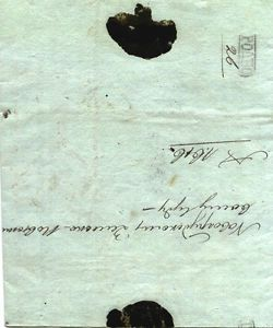 3713 Russia 1819 Rare Pre-stamped Letter From Grodno ����� To Novogrudok
