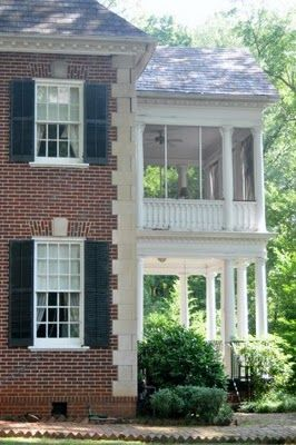 Porches atlanta and sleeping porch on pinterest for House plans with sleeping porch