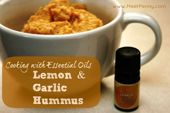 Lemon & Garlic Hummus: Cooking with Essential Oils (No Tahini in this ...