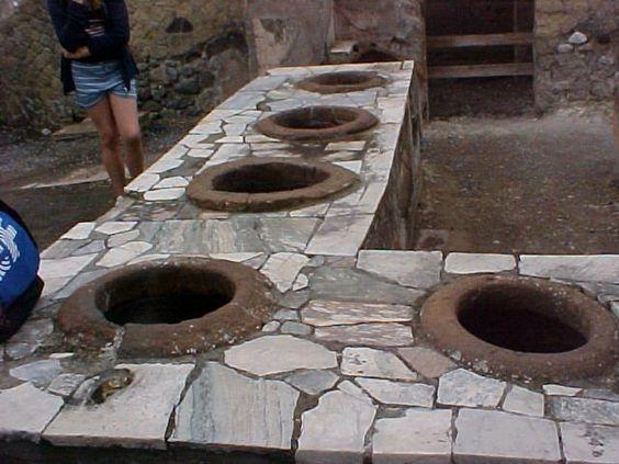 Herculaneum: A street bar with pots to keep food hot.