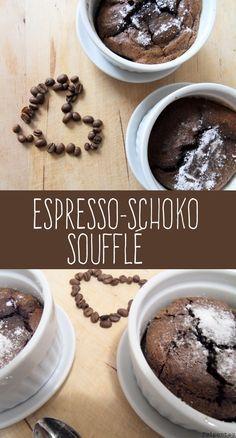 Tulpentag: Espresso-Schoko-Soufflé #dessert #rezept #nachtisch #schokolade…