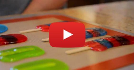 Comment faire des sucettes avec des bonbons durs. http://rienquedugratuit.ca/videos/comment-faire-des-sucettes-avec-des-bonbons-durs/