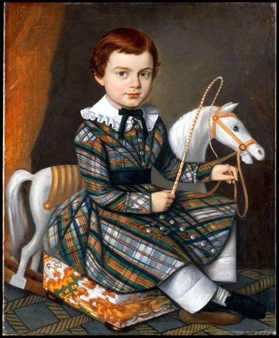 Unkonwn  American Artist — Boy in Plaid, c.1845  :  The Art Museums of Colonial,  Williamsburg,  VA.  USA (736×890):