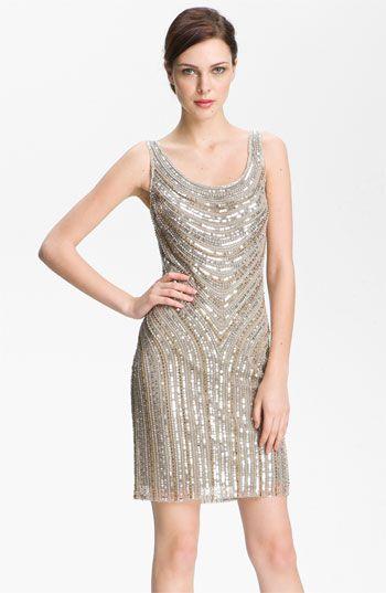 Pisarro Nights Embellished Scoop Neck Dress available at Nordstrom