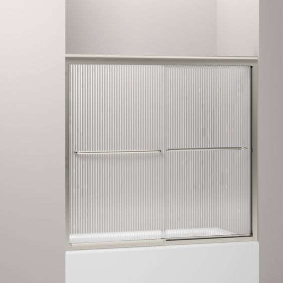 "Fluence 55.75"" x 57"" Sliding Bath Door"