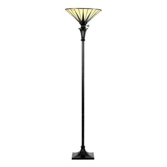 Quoizel TF9398VB Gotham Torchiere Floor Lamp, Vintage Bronze