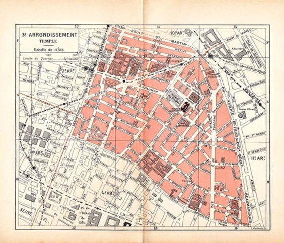 1920s paris map