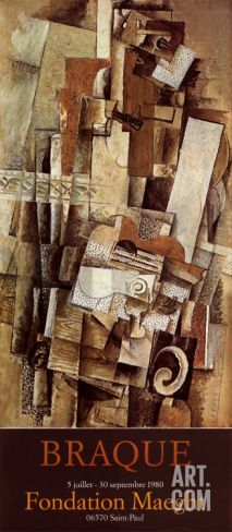 Guitare, 1980 Art Print by Georges Braque at Art.com
