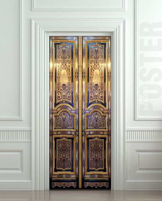 Door sticker old baroque house enter doors mural decole by for Door mural wallpaper