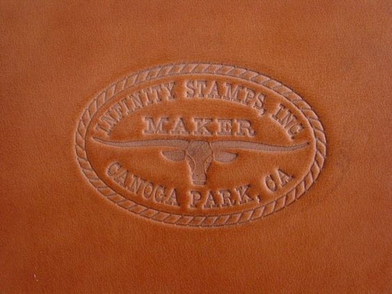Impression from a Leather Maker Hand Stamp