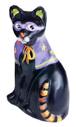 """Fenton makes Halloween figurines, and every year there is a new black cat. This one is """"Prowler."""""""