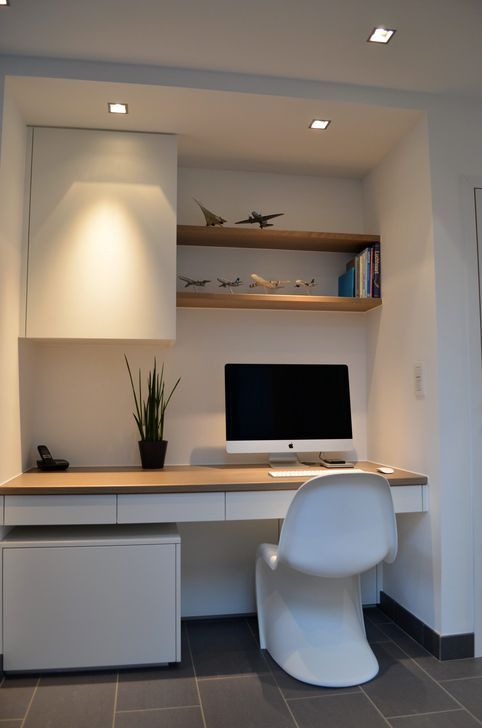 30 Perfect Mini Office Design Ideas For Your Home Trenduhome Small Home Offices Office Interior Design Home Office Design