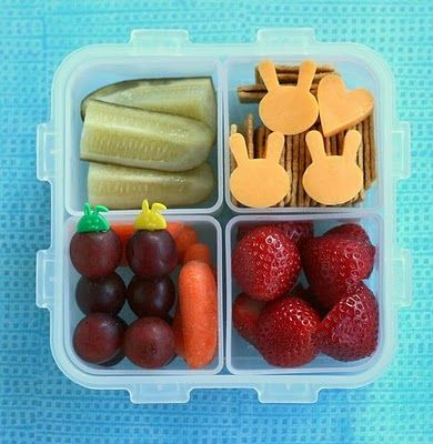 Creative Cheese: both kids got the giggles when I cut their cheese into cute shapes. #bento @babycenter