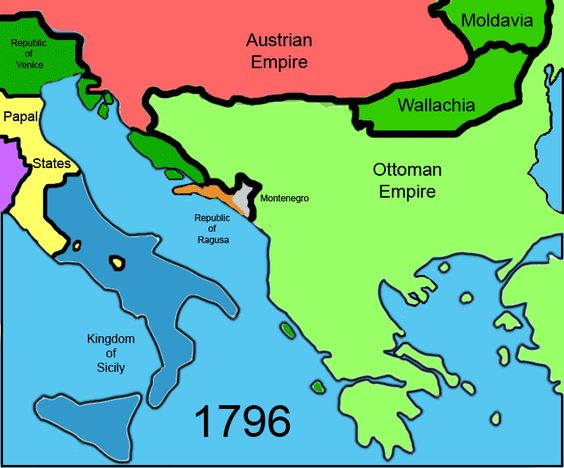 Modern political history of the Balkans from 1796 onwards