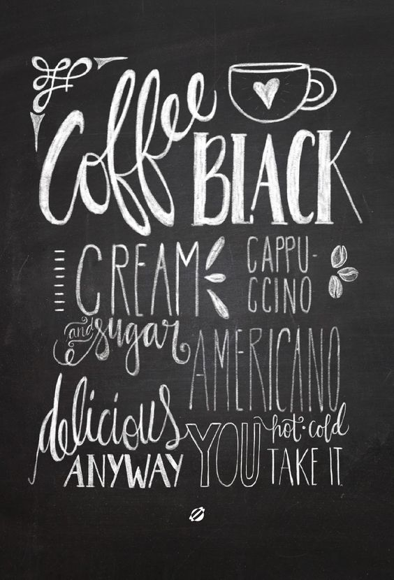 LostBumblebee 2014 Chalkboard Coffee Handlettered by Melissa Baker-Nguyen -Free Printable Personal Use Only. #LGLimitlessDesign & #Contest