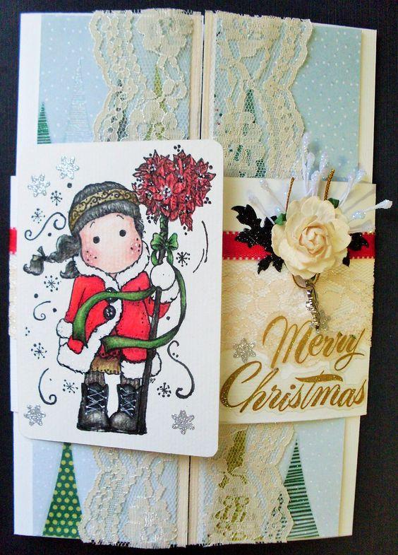 Cartão fechado, com  tarja e  Tilda.
