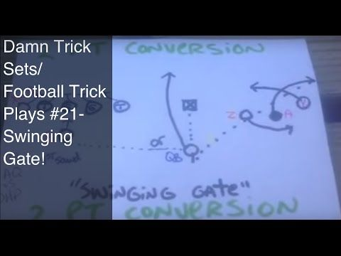 Swinging gate football play, young hoes naked