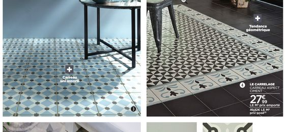 Carrelage imitation carreaux de ciment saint maclou cuisine pinterest s - Carrelage ciment saint maclou ...