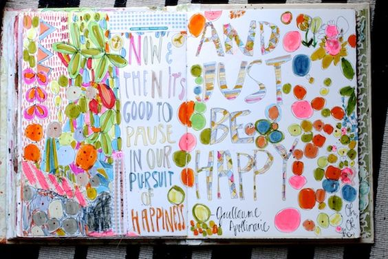 Pam Garrison's art journal style