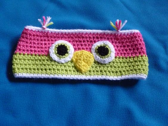 Owl Ear Warmer - available in your choice of colors $15.00 - email funkylittlefeet1@hotmail.com